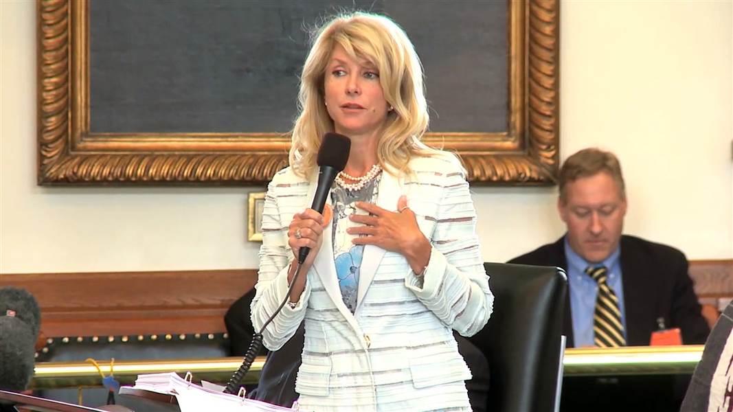 Wendy Davis during 2013 filibuster. (NBC News)
