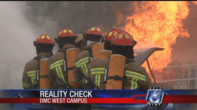 Cadets at DMC's Fire Academy got hands-on experience fighting live fires during training exercises.
