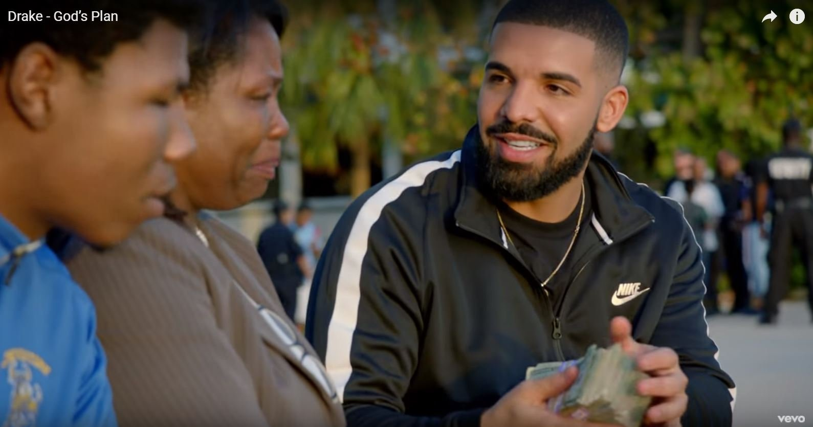 Drake gives away $1 million in 'God's Plan' music video