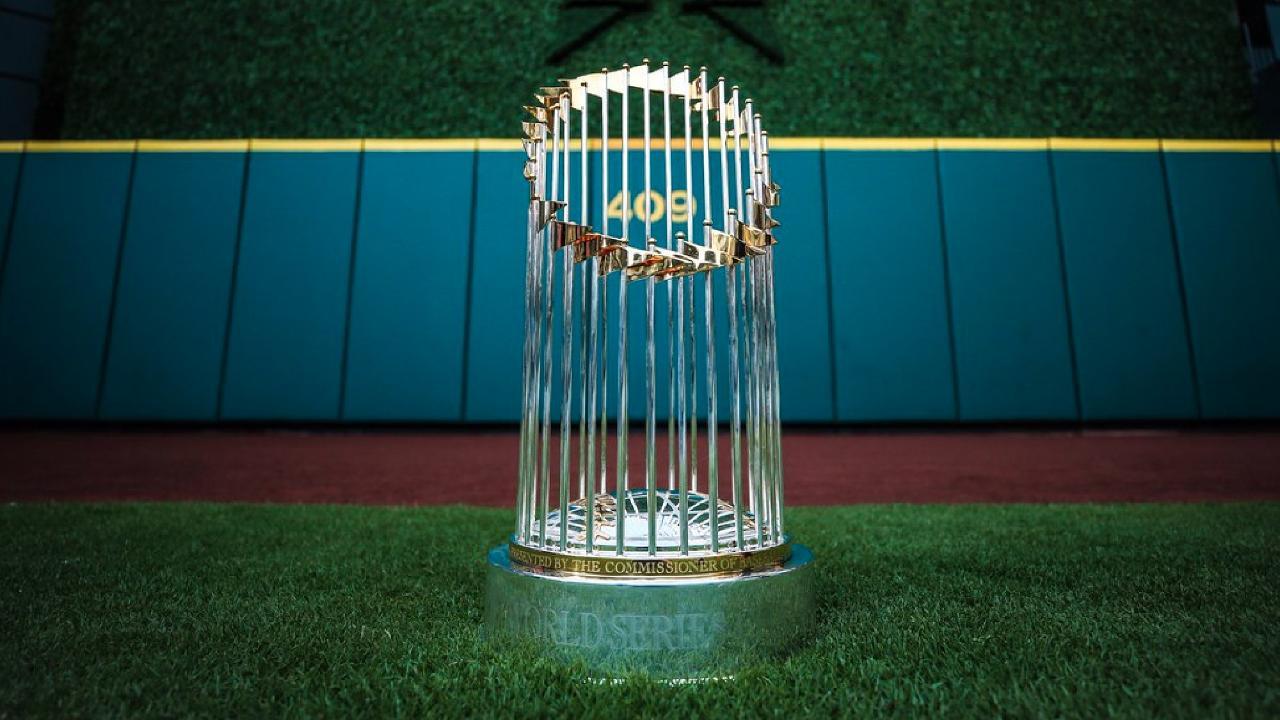 The World Series Commissioner's Trophy. Image: MILB.com
