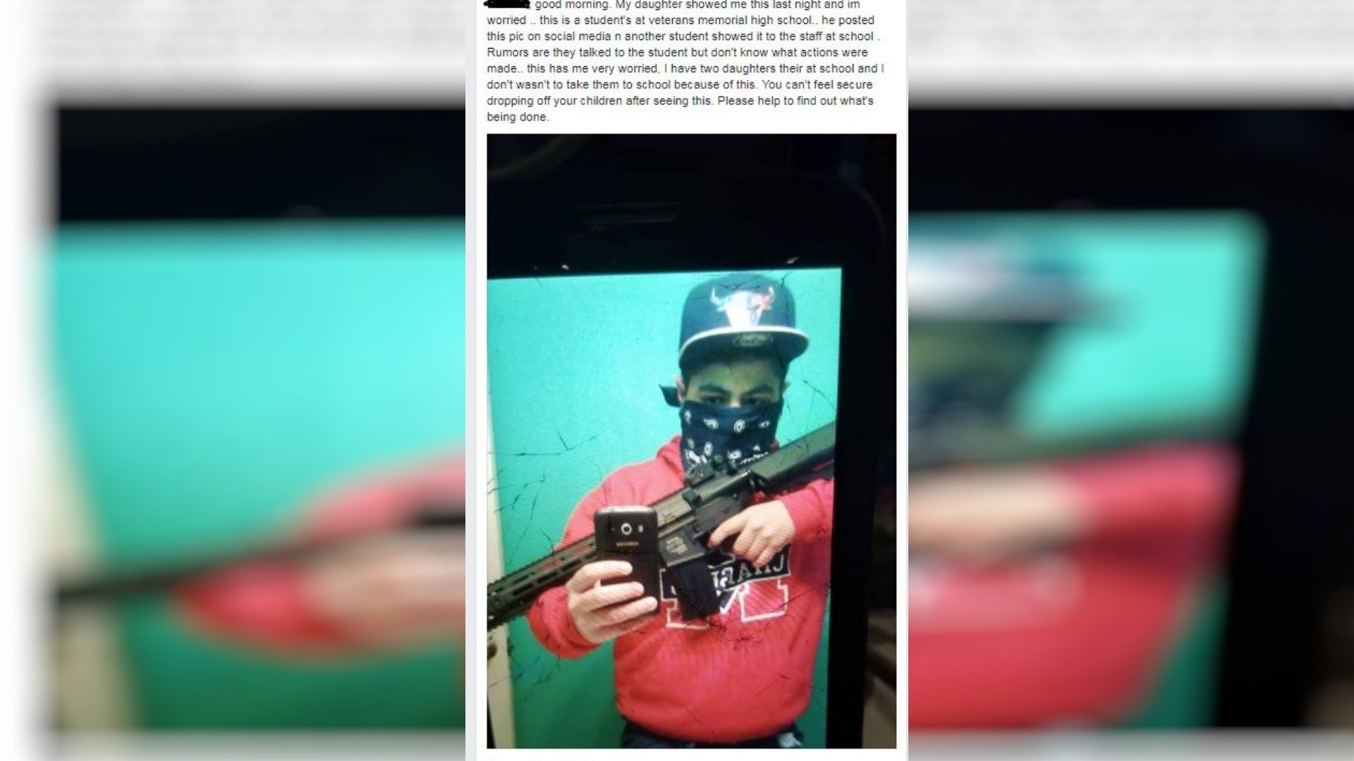 A Facebook post of a student holding a gun is causing confusion in Corpus Christi.