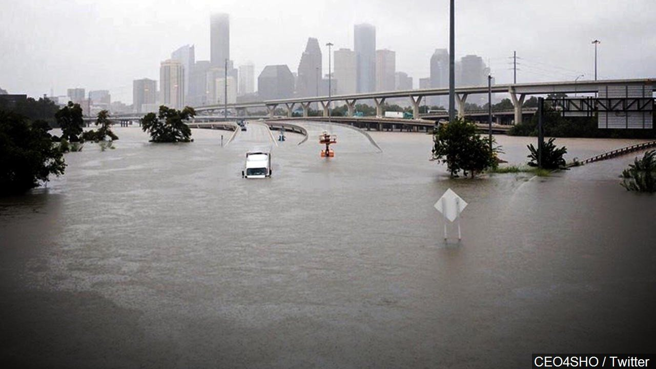 Catastrophic Flooding in Houston Texas from Tropical Storm Harvey. (Photo: CEO4SHO / Twitter)