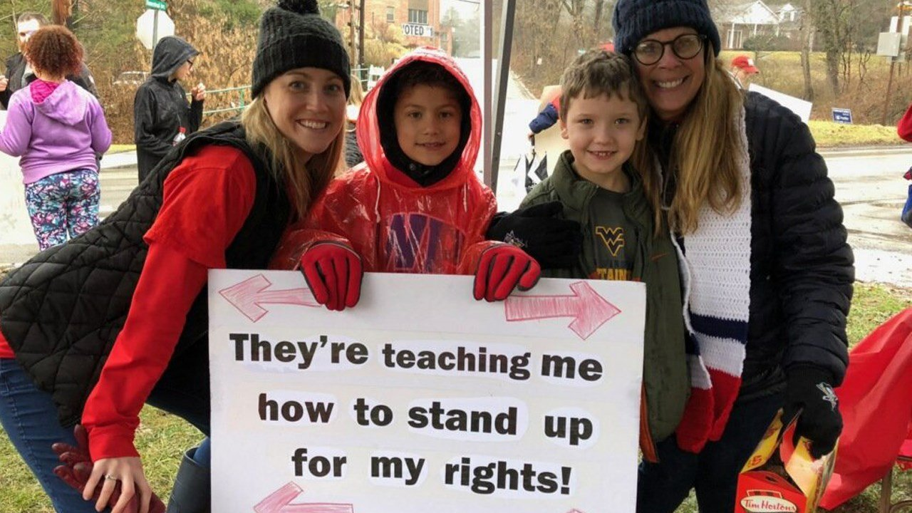 West Virginia's Statewide Teachers' Strike Continues