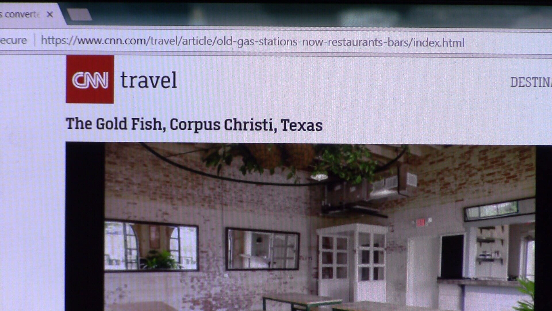 The Gold Fish reviewed in the travel section of CNN.com