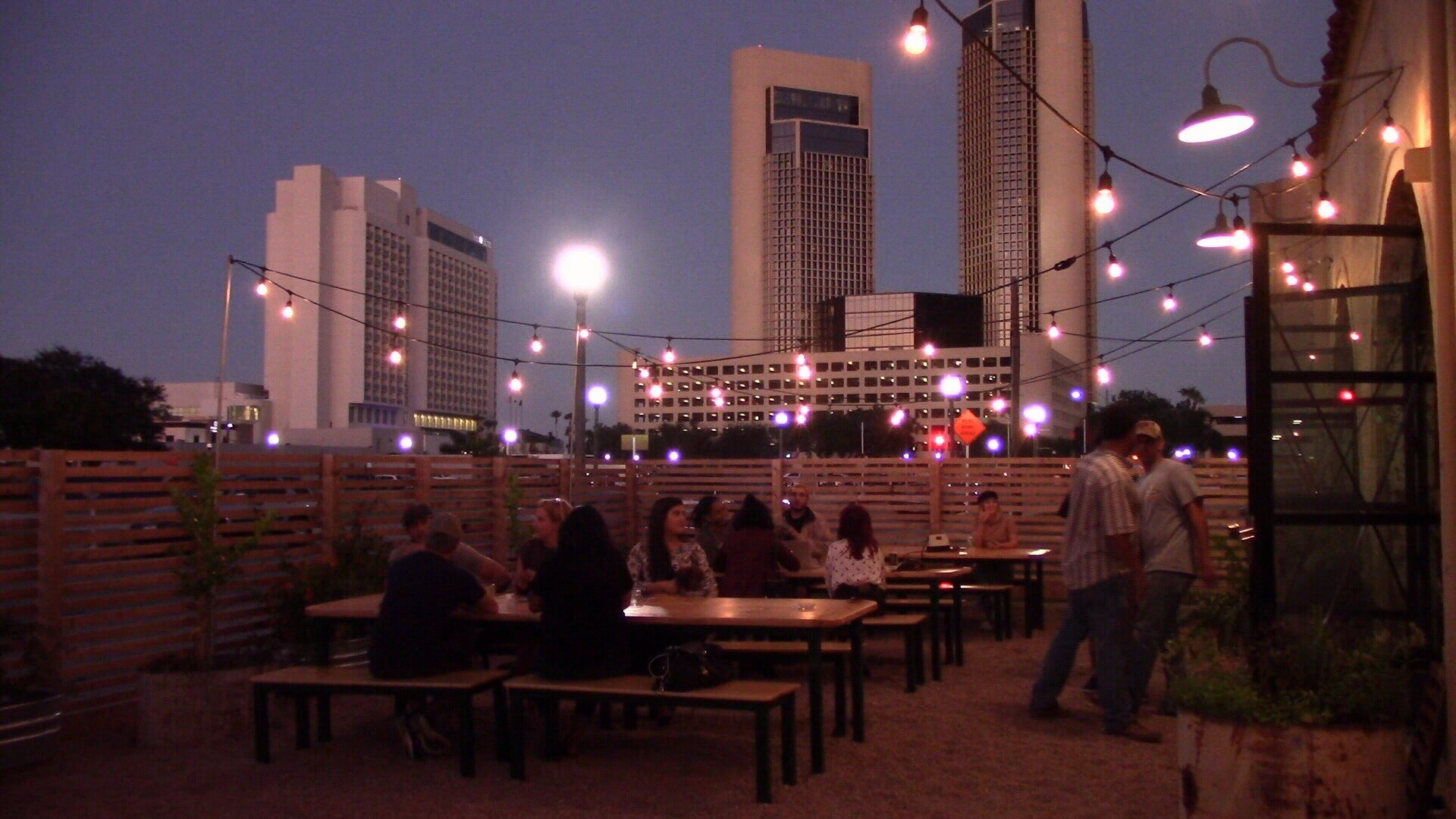 Customers like the crafted cocktails, the patio seating, and the view