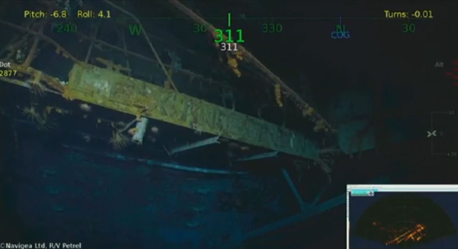 Footage from discovery of USS Lexington