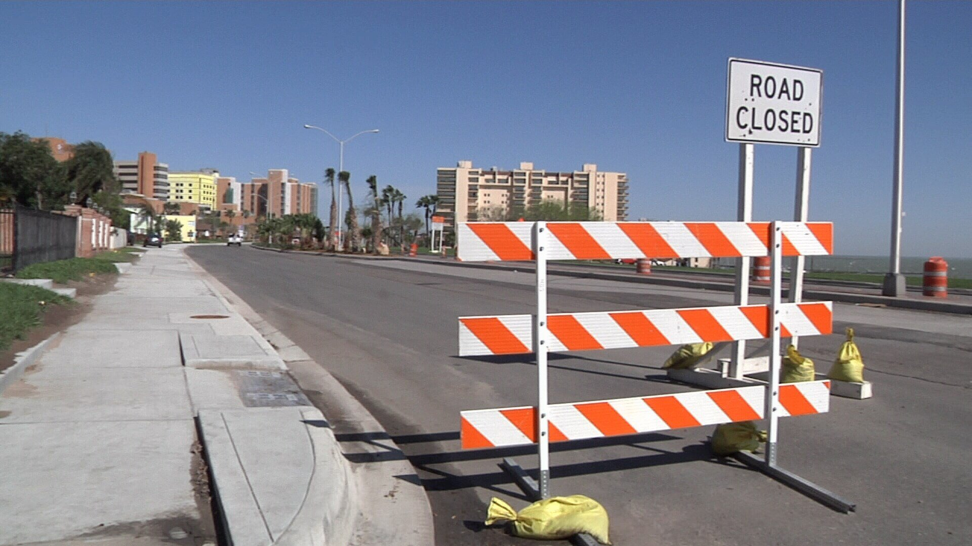 The City Streets Department says Ocean Drive between Buford Street and Louisiana Avenue will open at the end of March.
