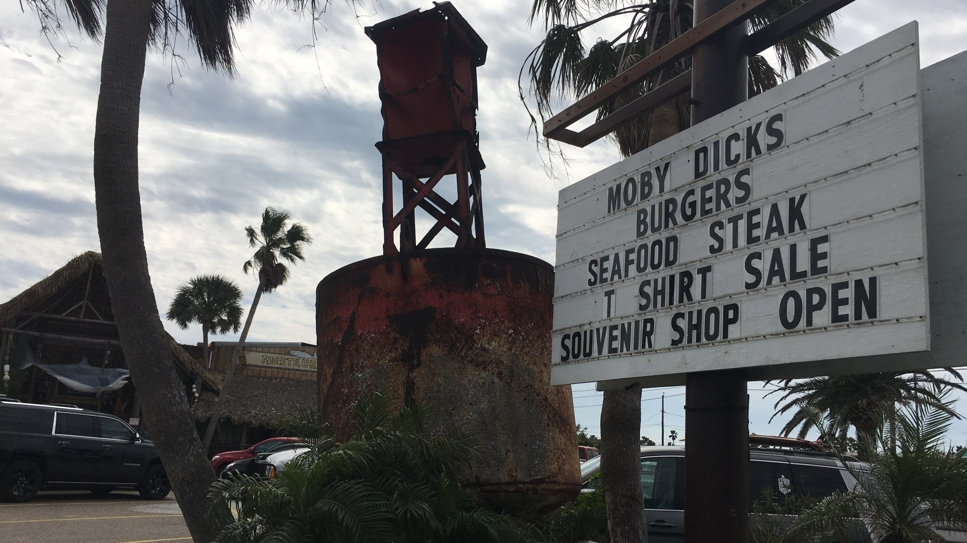 Photo Moby Dick's restaurant in Port Aransas 3-23-2018