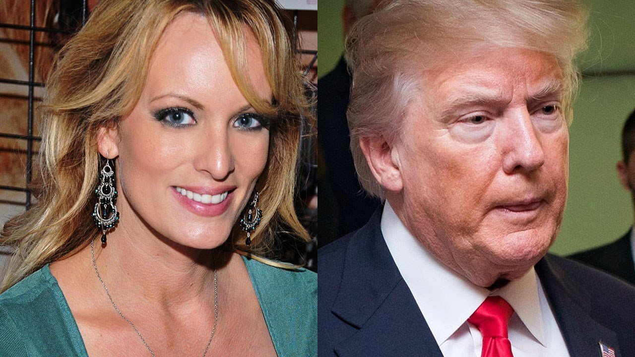 Stormy Daniels, American pornographic actress and Donald Trump, United States President (Cropped Photo: Glenn Francis / CC BY-SA 4.0)