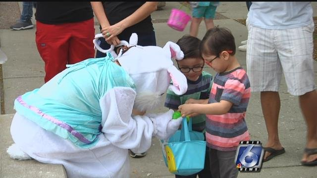 The Easter Bunny made a special delivery to kids over at Del Mar College.