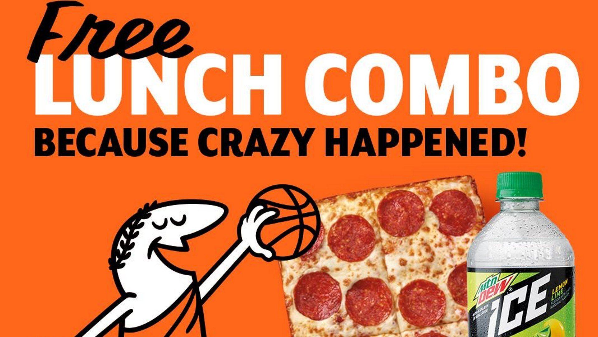 Little Caesars offering free pizza lunches today after losing March Madness bet