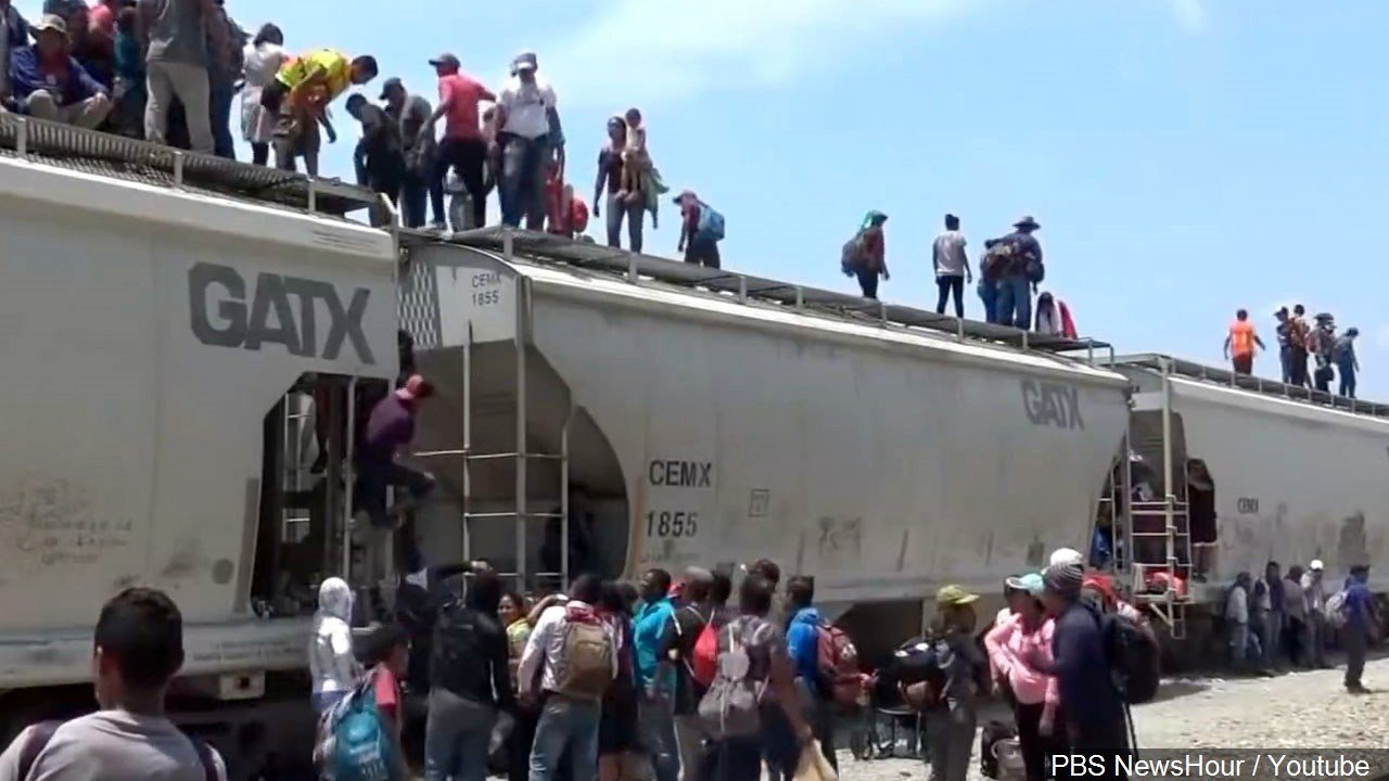 U.S. border a long way off for migrant caravan angering Trump