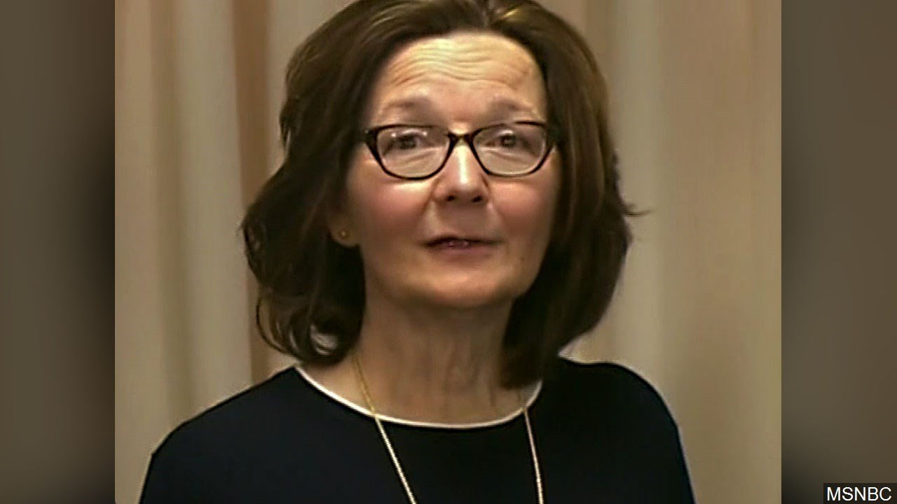 What does Trump mean by tweeting that Gina Haspel is