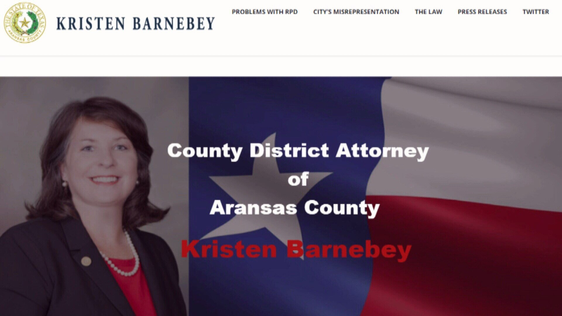 A new Aransas County District Attorney website explains why the D.A.'s office will not prosecute cases from the Rockport Police Department.