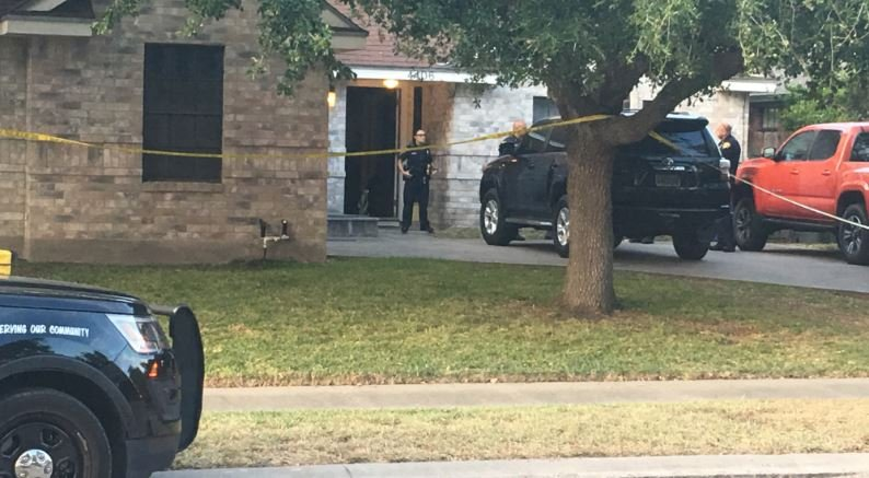 Police investigate a shooting at a southside home.