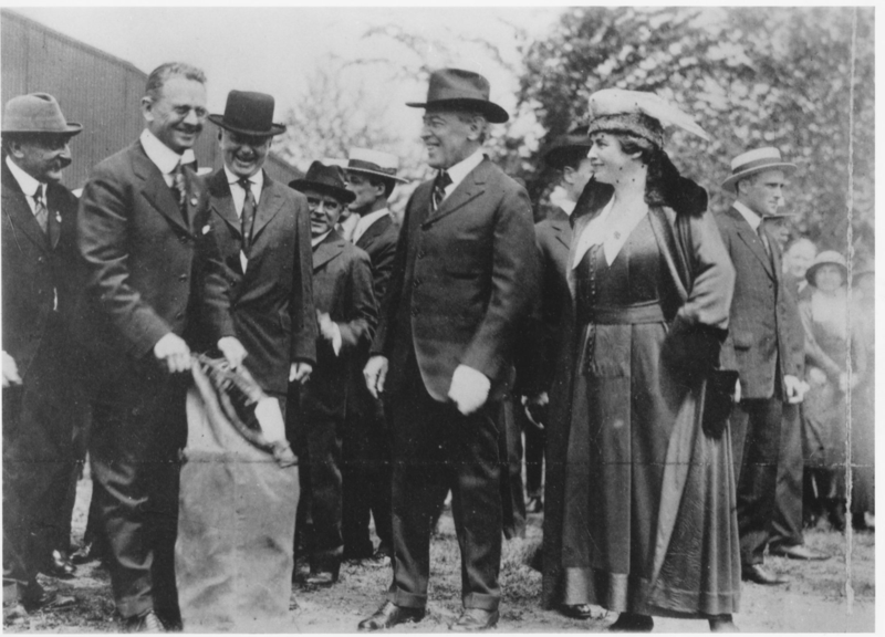 President Woodrow Wilson was on hand for the first U.S. Air Mail flight