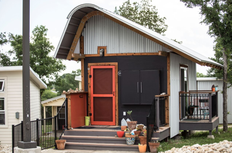 Community First! Village rests on 27 acres, and has 135 micro homes and 100 RVs.