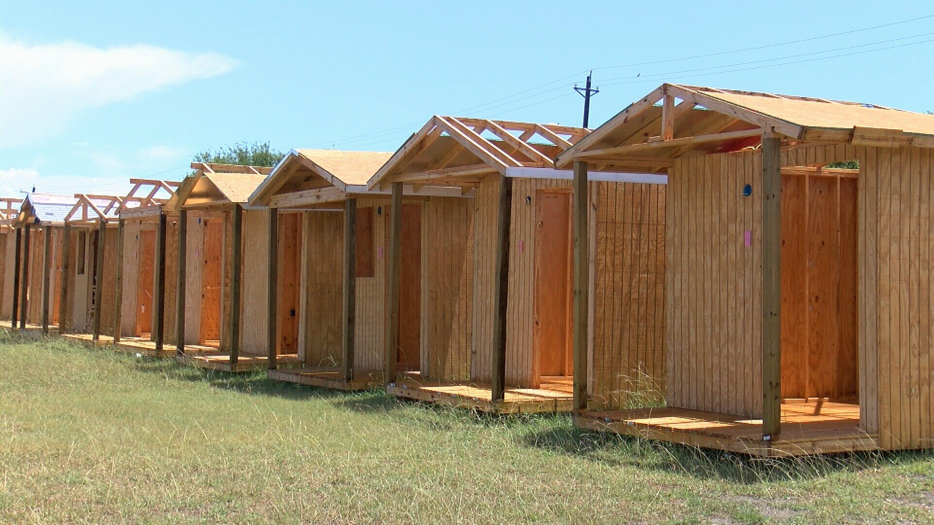 These structures will be transformed into tiny shelters as Corpus Christi community leaders move forward with plans to build a village for the homeless.
