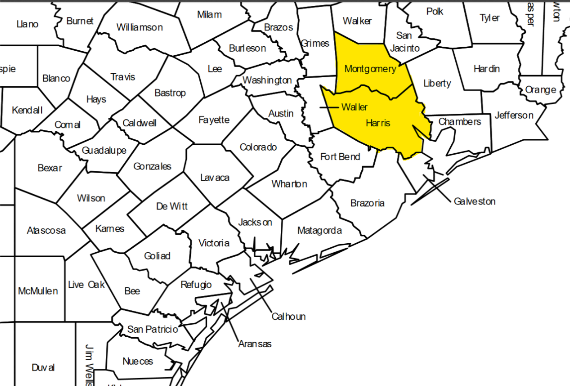 Harris and Montgomery counties have been affected by West Nile.