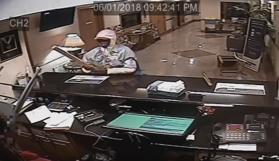 Photo: A suspect entered an establishment located on the 700 block of North Port.  (Courtesy: CCPD)