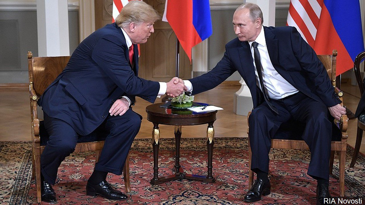 PHOTO: President Trump & President Putin at the Presidential Palace in Helsinki, Finland, Photo Date: 7/16/18