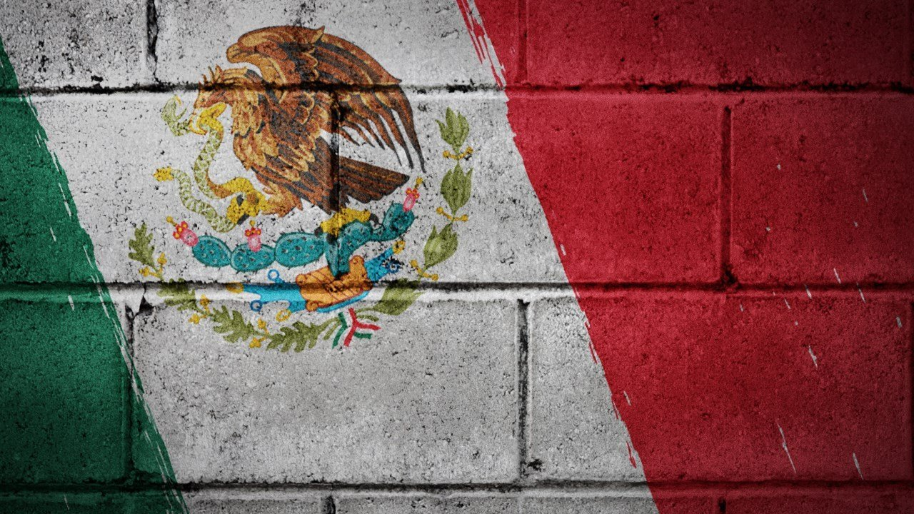 PHOTO: Mexico flag on a stone wall.(MGN Image)