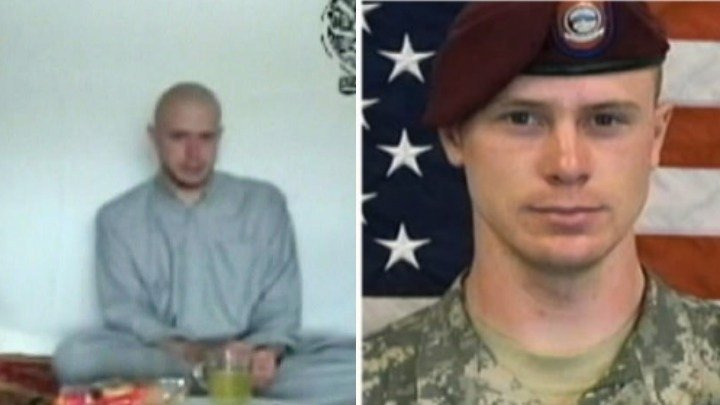 Sgt. Bowe Bergdahl shown in captivity by the Taliban in Afghanistan and in US Army uniform.