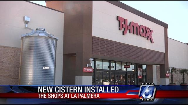 A large cistern installed at The Shops at La Palmera will collect rainwater.