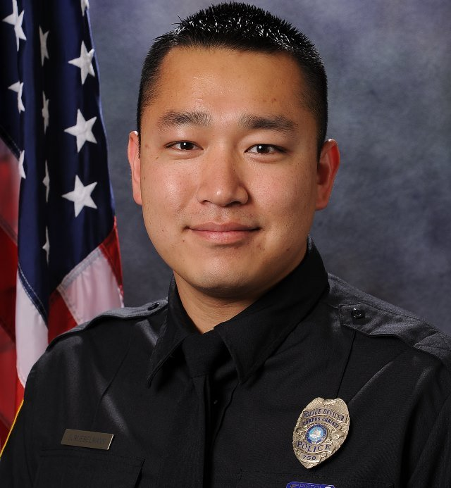 Sr. Police Officer Steven Ruebelmann (6-year veteran) received two gunshot wounds. One to his wrist and one to his hand.