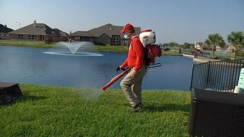 Mosquito Shield spraying a Corpus Christi resident's backyard. (KRIS)