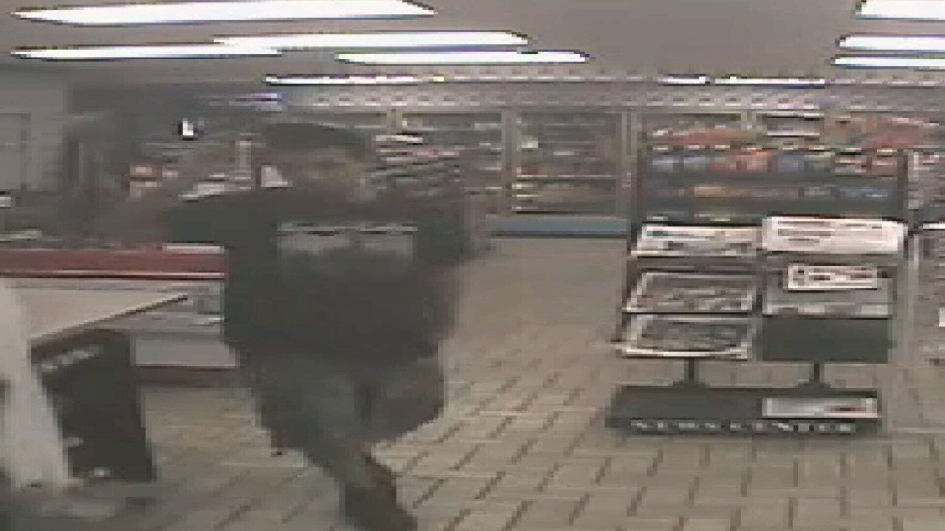 Surveillance image of the suspect in the killing of a Stripes clerk. (Corpus Christi PD)