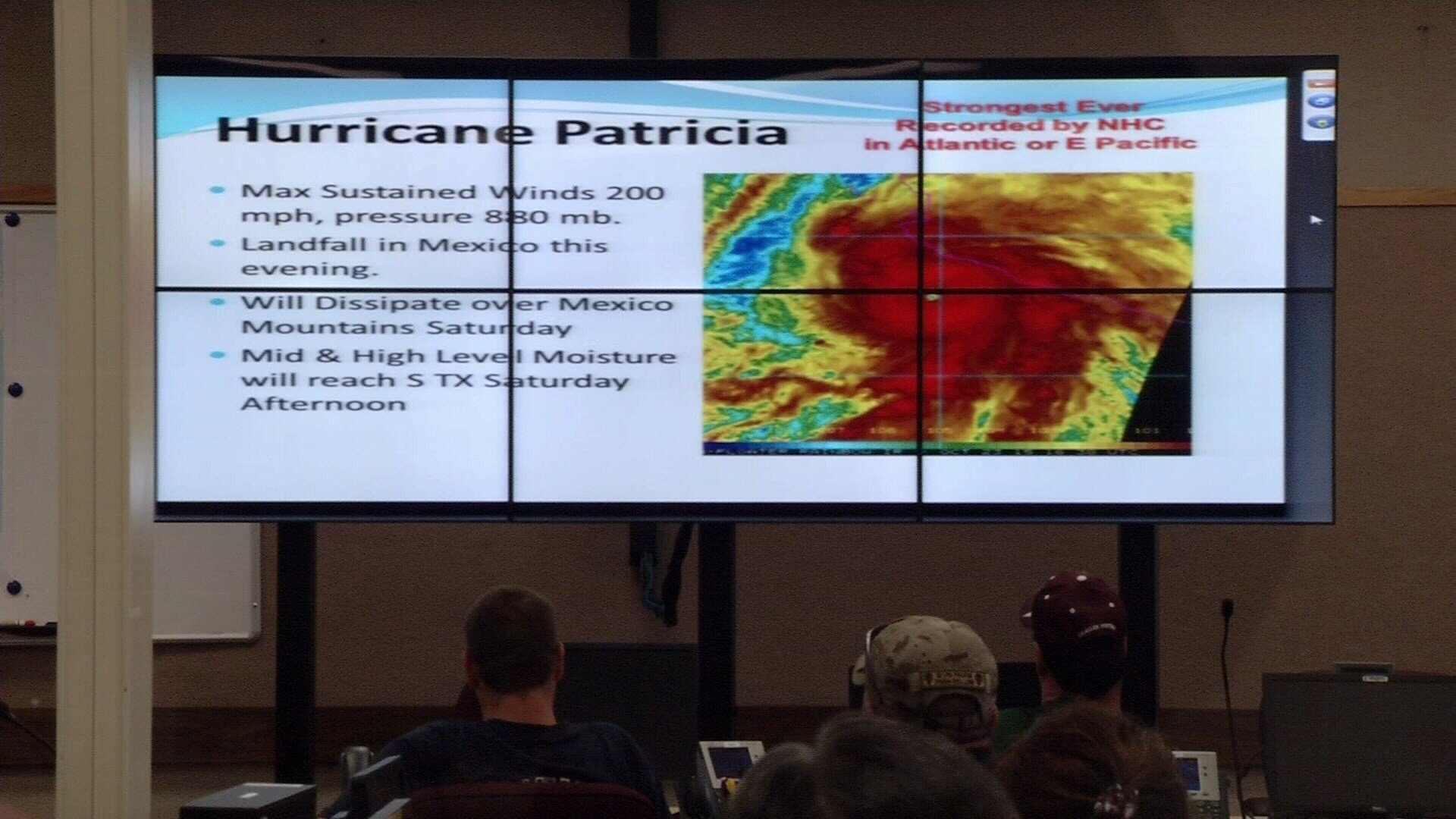 The EOC coordinates all citywide efforts in storm preparation and response.