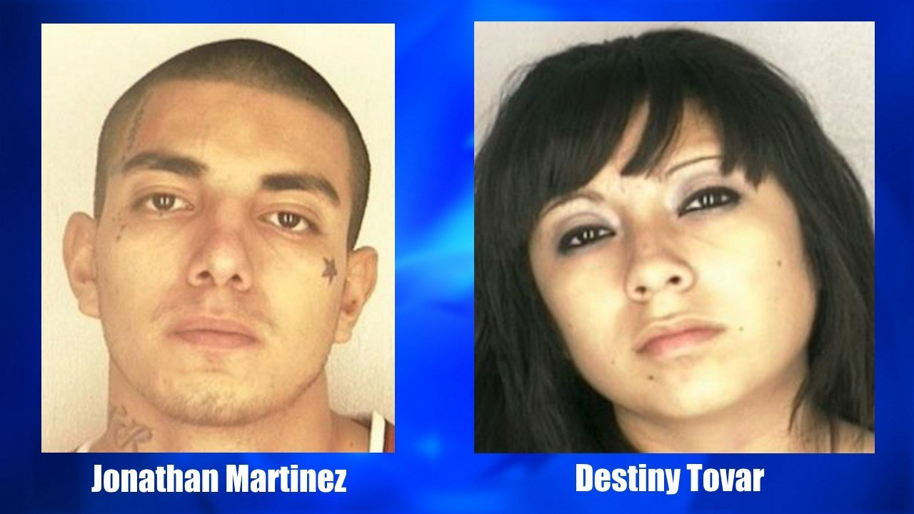 Jonathan Martinez and Destiny Tovar are wanted for aggravated assault. (KRIS)