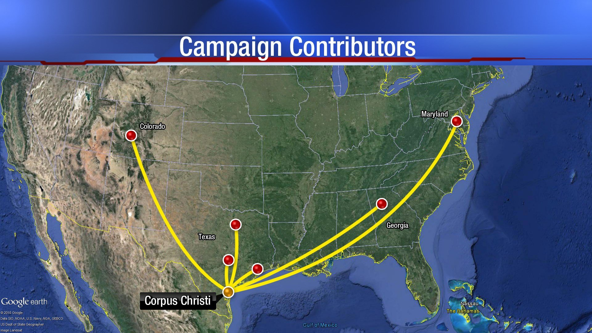 More out-of-town campaign contributions are going to City Council candidates. (KRIS 6 News)