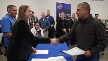 Graduates of Del Mar's process technology program signed on for jobs with Gravity Midstream, LLC.