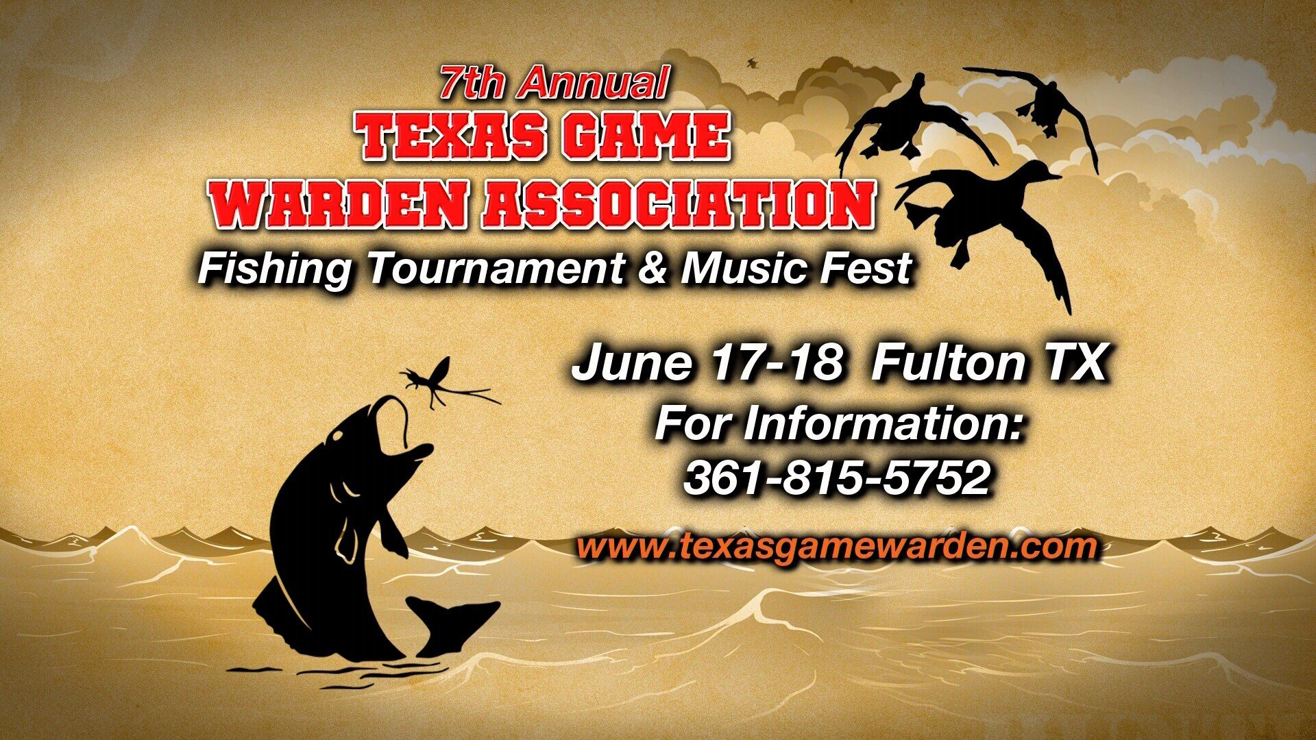 Texas game warden association 7th annual fishing for Texas game and fish