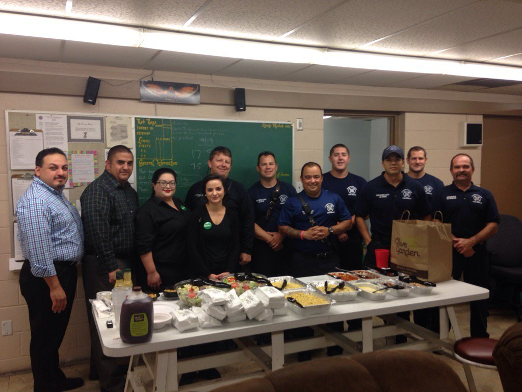 Olive Garden Surprises Firefighters With Lunch This Labor