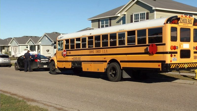 A drunk driver crashed into this school bus this afternoon.