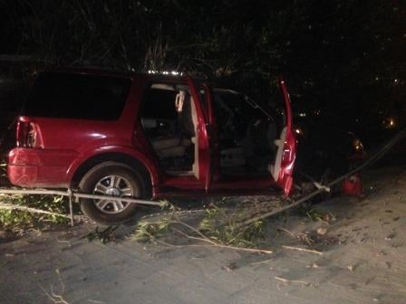 Suspected drunk driver crashes car into school fence