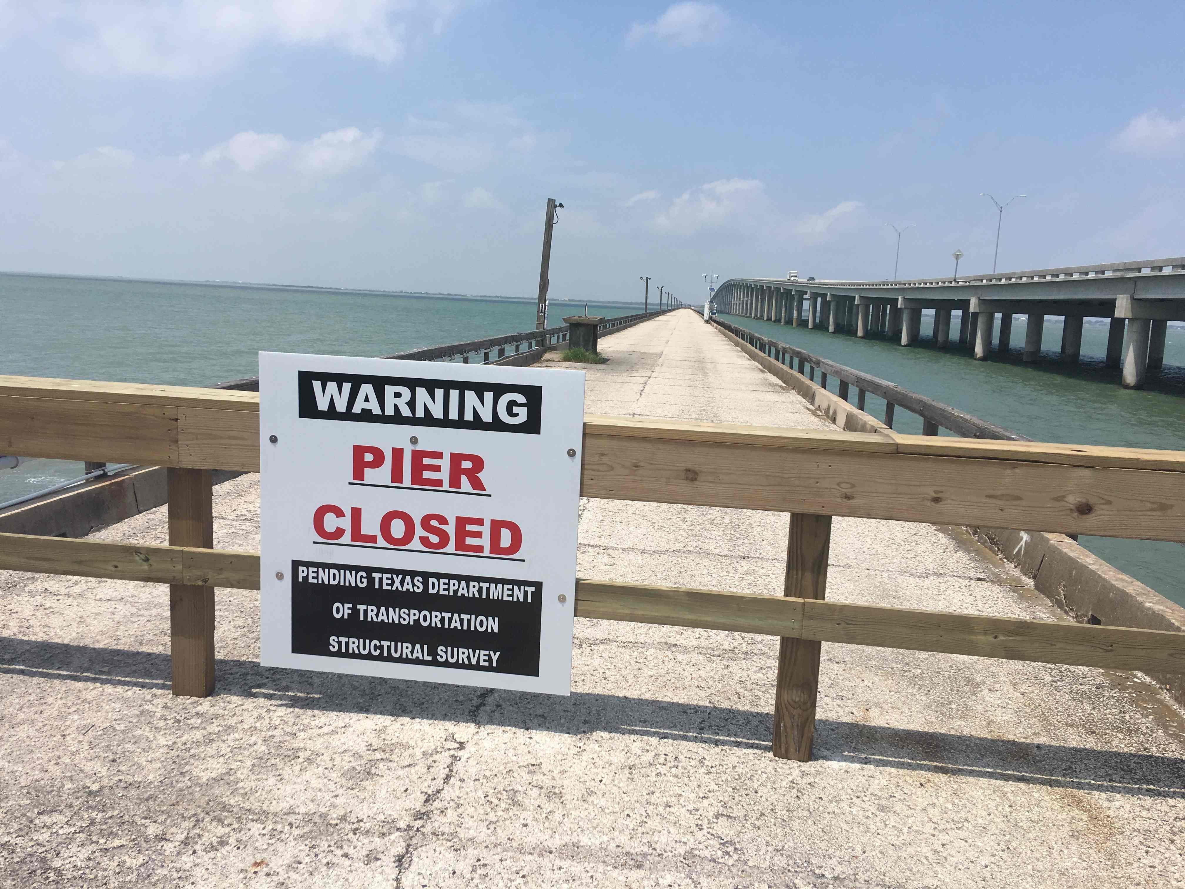 Copano bay fishing pier closed to public for Copano bay fishing