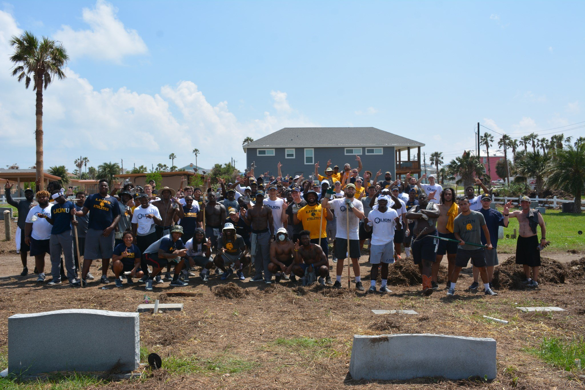 Texas AM Commerce Football Team Goes Into Overtime To Support Harvey Relief