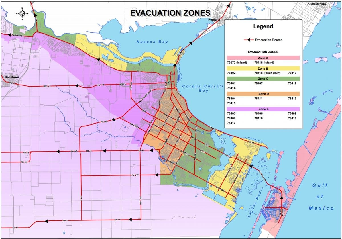 Corpus Christi Evacuation Zones Kristv Com Continuous