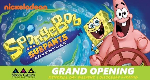 Moody Gardens Launches Spongebob Subpants Interactive